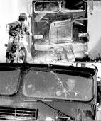 ترمیناتور 2: شیشههای جلوی کامیون پس از شکستن، دوباره سر جایشان برمیگردند