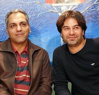 با مهران مدیری در دفتر ماهنامه فیلم